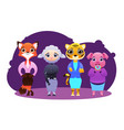 business team of female animals vector image vector image