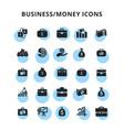 businessmoney icons vector image vector image