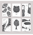 Cards with a trendy hipster print vector image vector image