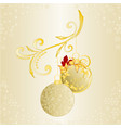 christmas and new year background christmas vector image