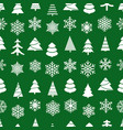 christmas seamless background forest and vector image