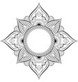 circular pattern in form of mandala for henna vector image