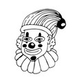 clown hand draw doodle design vector image