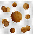 coffee stains set vector image