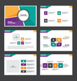 Colorful presentation templates Infographics set vector image vector image