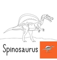 Coloring page for kids with Spinosaurus vector image