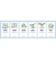 digital marketing strategy mobile app onboarding vector image