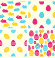 easter seamless patterns set backgrounds vector image