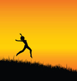 girl black silhouette jumping vector image vector image