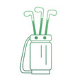 golf bag with clubs vector image vector image