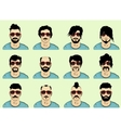 hair beard and mustache vector image vector image