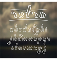 Hand drawn calligraphic font vector image