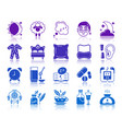 insomnia color silhouette icons set vector image