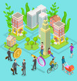 isometric flat concept of investment vector image