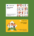 job agency business-card woman man vector image