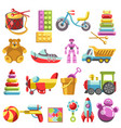 kid toys or children playthings isolated vector image