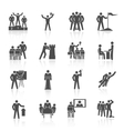 Leadership Icons Black vector image vector image