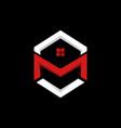 letter m residential business logo design vector image vector image