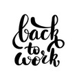 lettering back to work