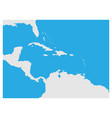Map of caribbean region and central america grey vector image