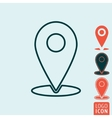 Marker location icon isolated vector image vector image