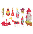 medieval kingdom characters middle ages vector image