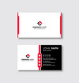 modern professional business card template red vector image vector image