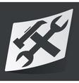 Monochrome settings sticker vector image vector image