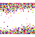 multicolored confetti vector image vector image