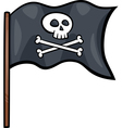 pirate flag cartoon clip art vector image vector image