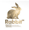 rabbit geometric paper craft style vector image