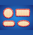 retro cinema or theater lights marquee banner vector image vector image