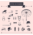 Retro personal accessories icons and objects of vector image vector image