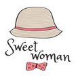 retro style hat with the inscription for t-shirts vector image vector image