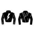 rocker leather jacket design element for logo vector image