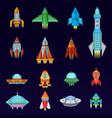 rocket spaceship or spacecraft and spacy vector image vector image