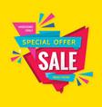 sale concept banner design discount creative vector image vector image