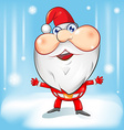 santa claus cartoon with background vector image vector image