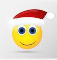 Santa emoticon emoji smiley vector image vector image