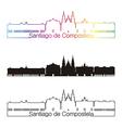 santiago de compostela skyline linear style vector image vector image