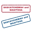 Saskatchewan and Manitoba Rubber Stamps vector image vector image