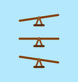 seesaw balance measurement vector image vector image