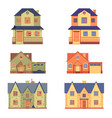 set home renovation in flat cartoon vector image