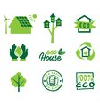 Set icons eco home vector image vector image