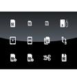 SIM cards mini micro nano icons on black vector image