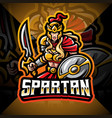spartan women esport mascot logo vector image vector image