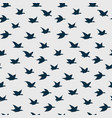 swallow birds seamless pattern with flying vector image vector image