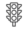 traffic light line icon stoplight and navigation vector image