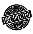 unexpected rubber stamp vector image