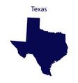 united states texas dark blue silhouette vector image